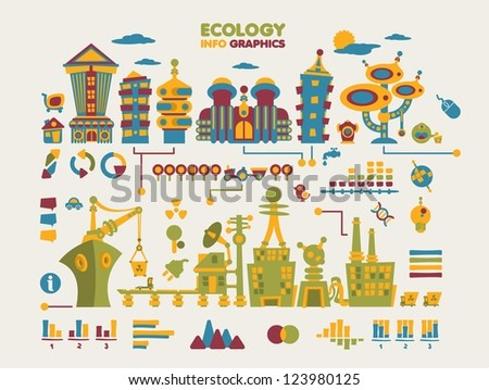 futuristic ecology info graphic