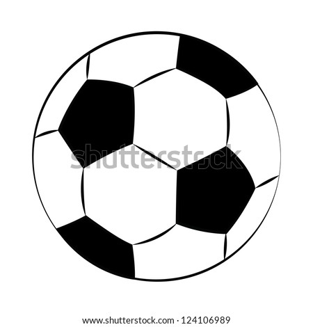 black outline vector football