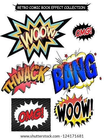 comic book  effect words