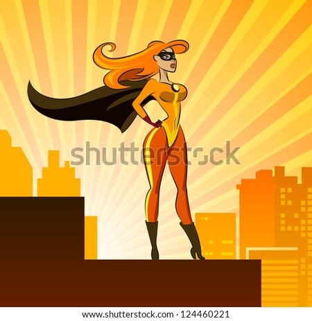 super hero   female vector