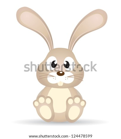 isolated vector bunny on white