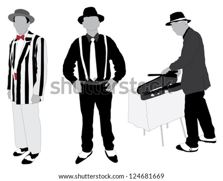 Vector images illustrations and cliparts men wearing roaring 20s