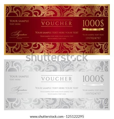 Voucher design free vector download 105 Free vector for – Voucher Designs