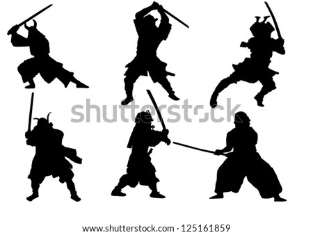 the set of samurai warrior