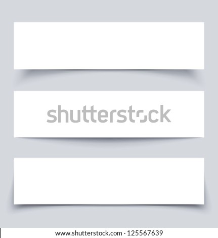 banners with shadows  vector