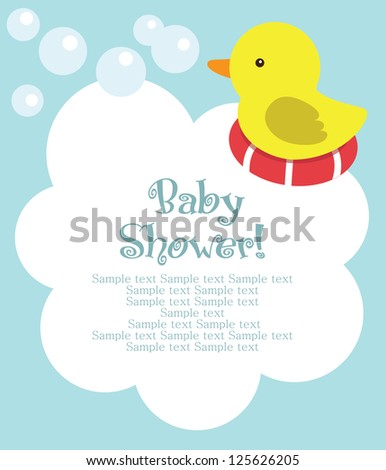 fun baby shower card vector
