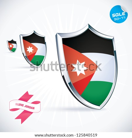 i love jordan flag illustration