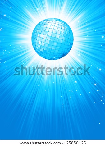 blue disco rays with stars eps