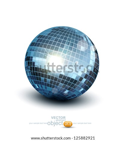 vector disco ball on a white