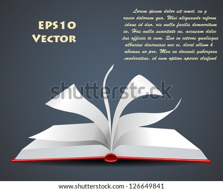 vector illustration of an open