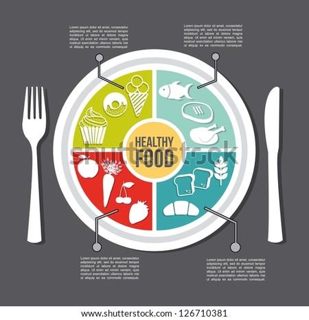healthy food concept  vintage