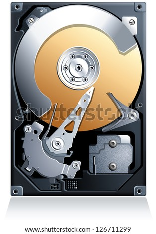 hard disk drive hdd realistic