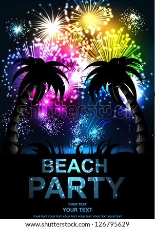 summer beach party vector flyer