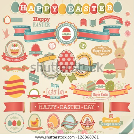 easter scrapbook set   labels