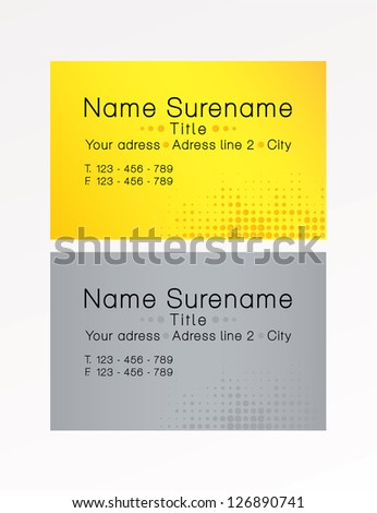 simple  modern business cards