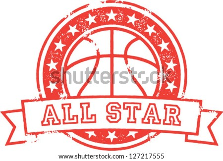basketball all star distressed