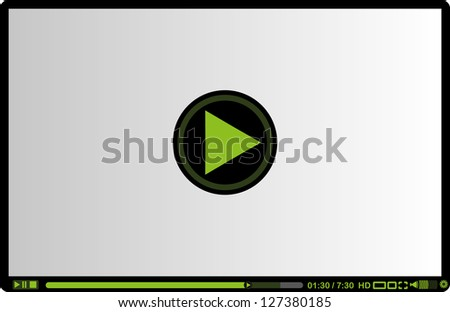 video play vector art
