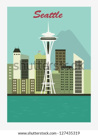 seattlespace needle vector