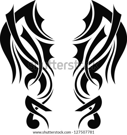 graphic design tribal tattoo