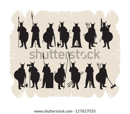 silhouettes of the vikings