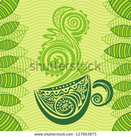 green tea vector illustration