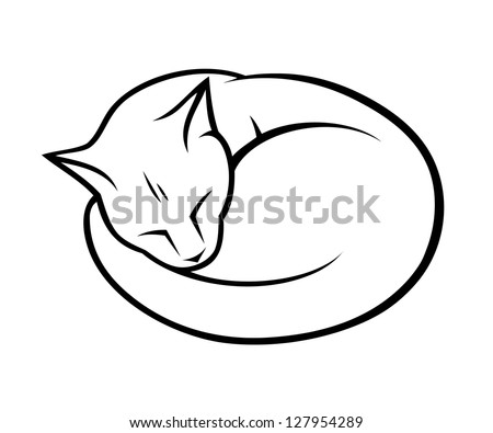 sleepy cat   vector illustration