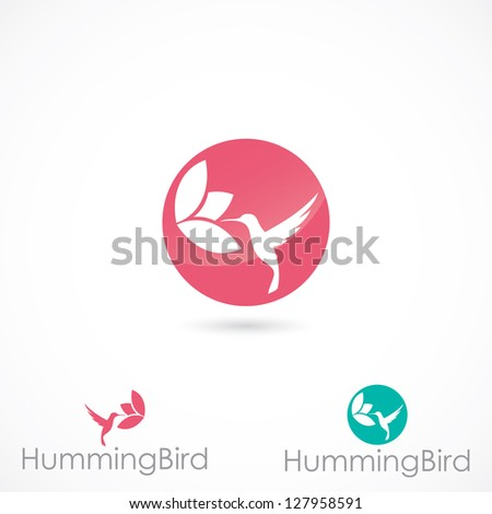 hummingbird sign   vector