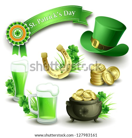 stpatrick's day icons set