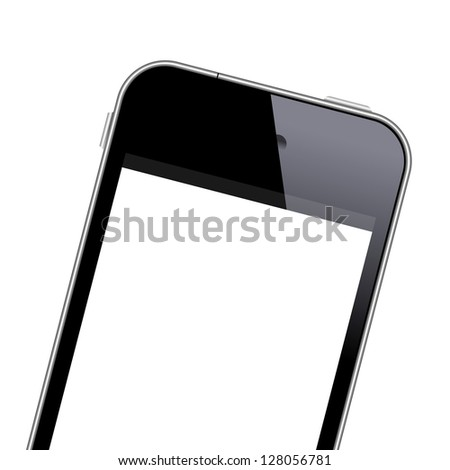 modern mobile phone close up
