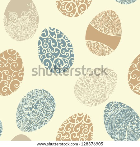 easter egg seamless vector