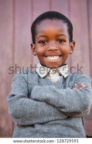 a friendly school boy with