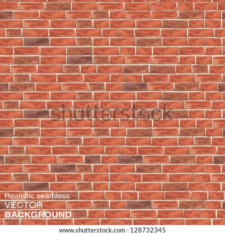 old red brick wall seamless