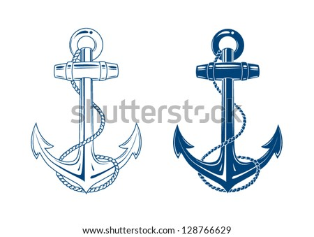 nautical anchor vector isolated