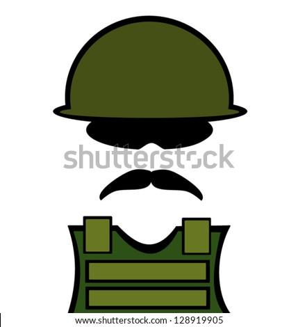 military man wearing flak