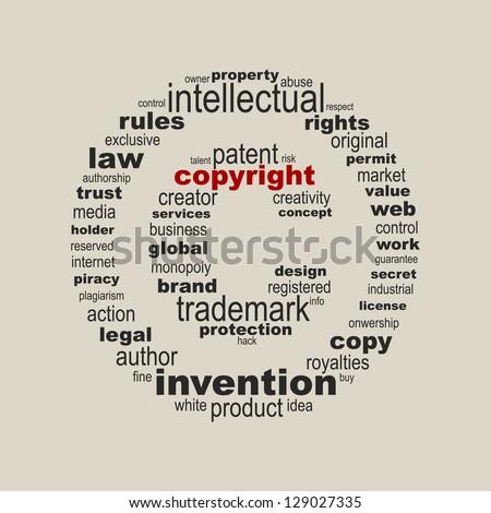 copyright symbol concept
