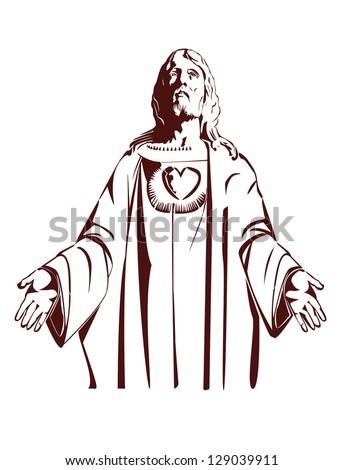 stock-vector-jesus-christ-of-nazareth-vector-illustration