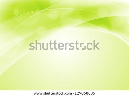 abstract light green wavy