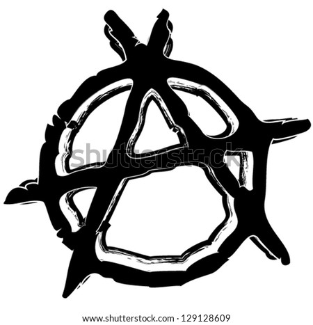 grungy anarchy symbol
