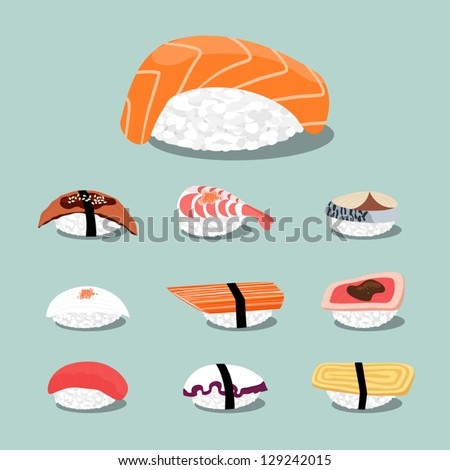 sushi set icon  vector