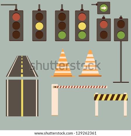 vector road signs collection
