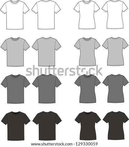 vector illustration set of men'