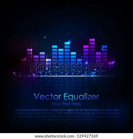 illustration of music equaliser