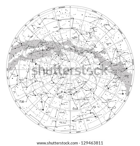 high detailed sky map of