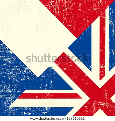 uk and french grunge flag