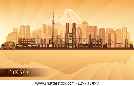 tokyo city skyline vector