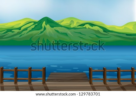 illustration of a blue calm sea