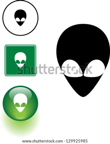 vector illustration of an alien