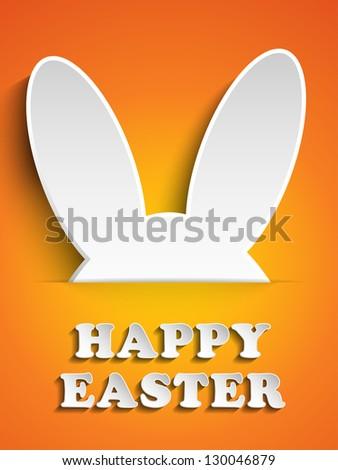 vector   happy easter rabbit