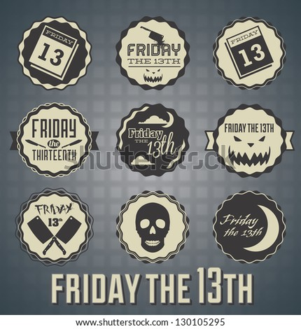 vector set  friday the 13th