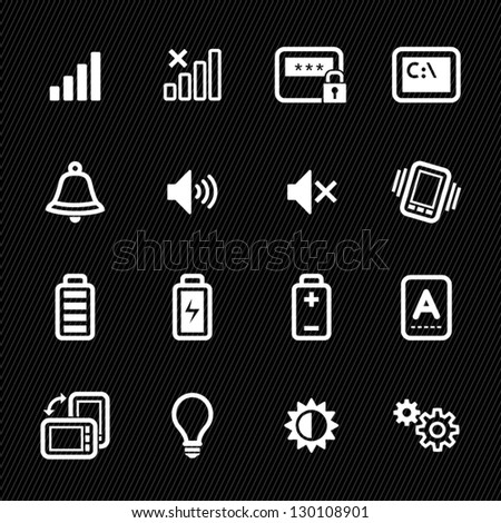 icons for mobile phone with